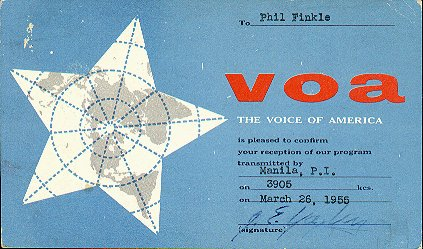 the Voice of America relay station located at Manila,the Philippines
